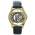31035 Round Gold Metal Watch