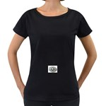 BuckleA270 Maternity Black T-Shirt