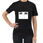 Eyes2 Women s Black T-Shirt (Two Sides)