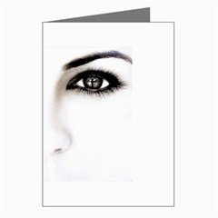 Eyes2 Greeting Cards (Pkg of 8) from ArtsNow.com Left