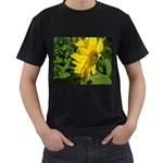 flowers_30 Black T-Shirt (Two Sides)