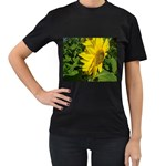 flowers_30 Women s Black T-Shirt (Two Sides)