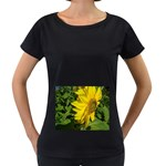 flowers_30 Maternity Black T-Shirt