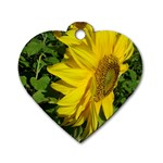 flowers_30 Dog Tag Heart (One Side)