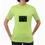 wallpaper_12647 Women s Green T-Shirt