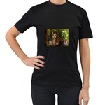 wallpaper_15924 Women s Black T-Shirt