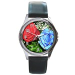 wallpaper_16293 Round Metal Watch