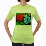 wallpaper_16293 Women s Green T-Shirt
