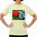 wallpaper_16293 Women s Fitted Ringer T-Shirt