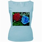 wallpaper_16293 Women s Baby Blue Tank Top