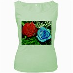 wallpaper_16293 Women s Green Tank Top
