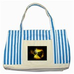 wallpaper_21592 Striped Blue Tote Bag