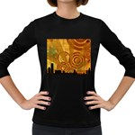 wallpaper_22315 Women s Long Sleeve Dark T-Shirt