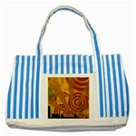 wallpaper_22315 Striped Blue Tote Bag