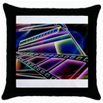 4 Throw Pillow Case (Black)
