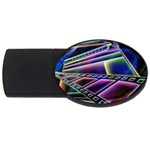 4 USB Flash Drive Oval (2 GB)