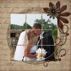 Wedding Sb 1 By Cookie6672 8 x8  Scrapbook Page - 1