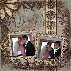 Wedding Sb 1 By Cookie6672 8 x8  Scrapbook Page - 2