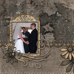 Wedding Sb 1 By Cookie6672 8 x8  Scrapbook Page - 3