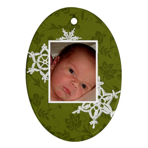 Mom & Dad Ornament By Klh   Ornament (oval)   4dtw7sezo0rs   Www Artscow Com Front