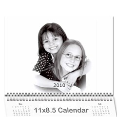 Girls By Scott   Wall Calendar 11  X 8 5  (12 Months)   H0c75tfb3oyr   Www Artscow Com Cover