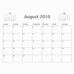 Girls By Scott   Wall Calendar 11  X 8 5  (12 Months)   H0c75tfb3oyr   Www Artscow Com Aug 2010