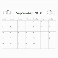 Girls By Scott   Wall Calendar 11  X 8 5  (12 Months)   H0c75tfb3oyr   Www Artscow Com Sep 2010