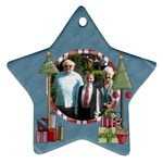 Holidays are Comin star ornament www.CatDesignz.com - Star Ornament (Two Sides)