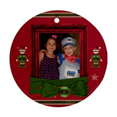 2 Sides Christmas Ornament By Tina Kellock   Round Ornament (two Sides)   1zqg44tsh154   Www Artscow Com Front