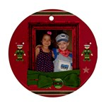 2 Sides Christmas Ornament - Round Ornament (Two Sides)