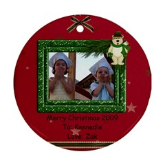 2 Sides Christmas Ornament By Tina Kellock   Round Ornament (two Sides)   1zqg44tsh154   Www Artscow Com Back