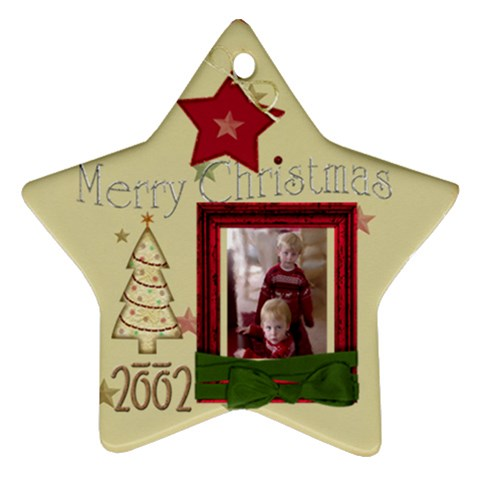 Christmas Star 2002 By Maureen Bayless   Ornament (star)   9evq9h5fa8ce   Www Artscow Com Front