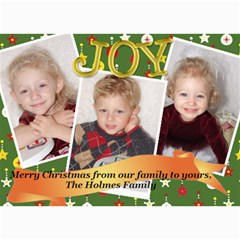 Christmas 2009 5x7 By Doddie   5  X 7  Photo Cards   Zix5fovgw7vr   Www Artscow Com 7 x5 Photo Card - 5