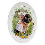 Flower Frame - Ornament (Oval)