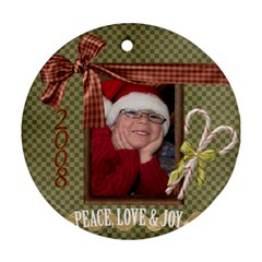 Logan Ornament By Mel Perrault   Round Ornament (two Sides)   8t8rx9jbmlwf   Www Artscow Com Back