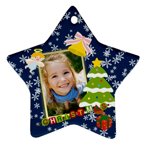 Xmas By Wood Johnson   Ornament (star)   Hdwvlm3ac1kg   Www Artscow Com Front