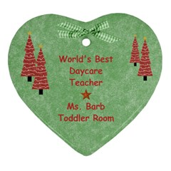 Ms  Barb Ornament By Heather   Heart Ornament (two Sides)   X6c3ftsly10o   Www Artscow Com Back