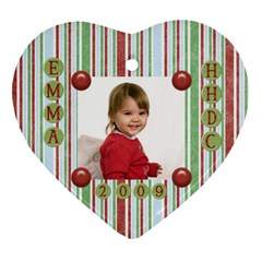 School Ornament Gift Ideas By Heather   Heart Ornament (two Sides)   P3nld12ine9d   Www Artscow Com Front
