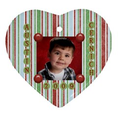 Char Ornament By Heather   Heart Ornament (two Sides)   N9kd5723e1z3   Www Artscow Com Front