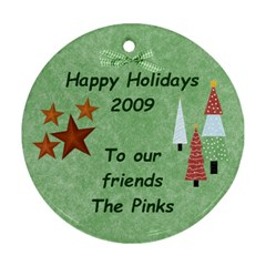 The Pinks 1 By Heather   Round Ornament (two Sides)   Eouhd5mmpw7v   Www Artscow Com Front