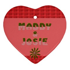 Maddy And Josie By Heather   Heart Ornament (two Sides)   2c3f7xz81jqu   Www Artscow Com Front