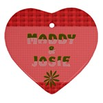 Maddy and Josie - Heart Ornament (Two Sides)