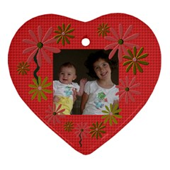 Maddy And Josie By Heather   Heart Ornament (two Sides)   2c3f7xz81jqu   Www Artscow Com Back