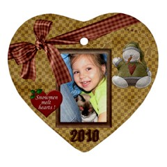 Elha2 By Evelina   Heart Ornament (two Sides)   Bs9fi6vl2d5r   Www Artscow Com Front