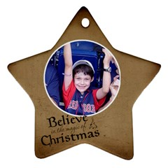 Ornament Lucas By Charlie Berry   Star Ornament (two Sides)   Ixj0n9frw9qk   Www Artscow Com Front