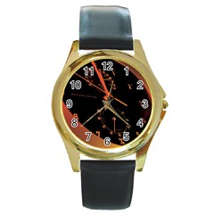 Watch Face Round Gold Metal Watch by Personalizedclocks