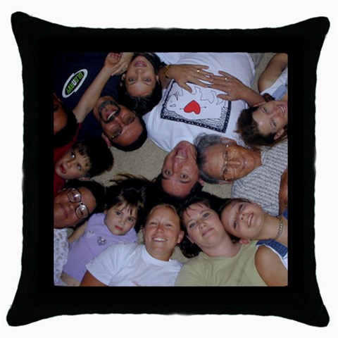 Pillow Circle  By Pc   Throw Pillow Case (black)   76ok3krb4ino   Www Artscow Com Front