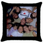 Pillow circle  - Throw Pillow Case (Black)