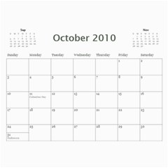 2010 Kalendarz By Marcin   Wall Calendar 11  X 8 5  (12 Months)   6ygevvddnevy   Www Artscow Com Oct 2010