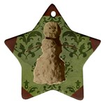 Star Snowman Ornament - Ornament (Star)